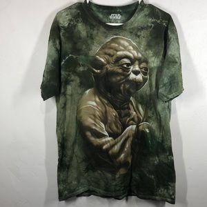 Star Wars Yoda green tie dye tee size large